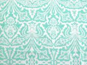 Regal Print Cotton Lawn Dress Fabric  Mint Green
