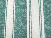 Stripe Print Cotton Dress Fabric  Green