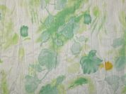 Floral Print Polyester & Cotton Voile Dress Fabric  Mint Green