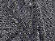 Polyester & Viscose Blend Crepe Dress Fabric  Black & Grey