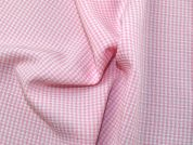 Plaid Check Polyester Suiting Dress Fabric  Baby Pink