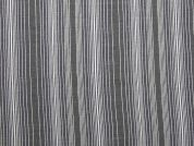 Woven Stripe Polyester Dress Fabric  Blue & Grey
