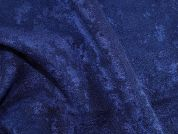 Loop Texture Polyester Dress Fabric  Navy Blue