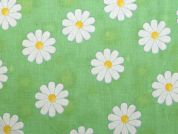Floral Print Cotton Dress Fabric  Light Green