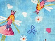Daisy Fairy Print Cotton Dress Fabric  Blue