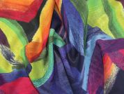 Abstract Digital Print Georgette Dress Fabric  Multicoloured