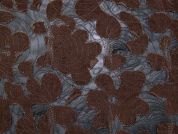 Embroidered Burn Out Design Needlecord Chiffon Dress Fabric  Black & Brown