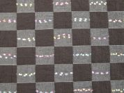 Decorative Check Woven Double Gauze Dress Fabric  Brown