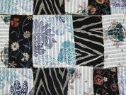 Embroidered Patchwork Cotton Voile Dress Fabric  Multicoloured