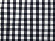 Woven Gingham Plaid Check Taffeta Dress Fabric  Navy Blue