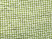 Embroidered Gingham Seersucker Cotton Dress Fabric