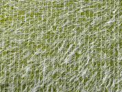 Hairy Textured Boucle Knit Fabric  Citrus Green