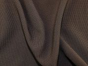 Houndstooth Check Polyester Suiting Dress Fabric  Brown