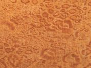 Leopard Print Linen Look Polycotton Fabric  Rust