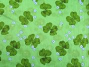 Lily Pad Print Cotton Dress Fabric  Green