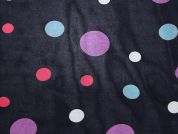 Spotty Print Viscose Georgette Dress Fabric  Multi on Navy