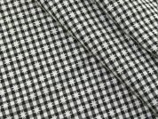 Plaid Check & Star Weave Polyester Suiting Dress Fabric  Black & White