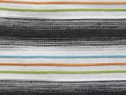 Raised Stripe Woven Polycotton Fabric  Multicoloured