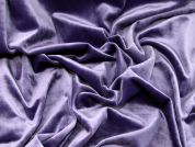 Plain Soft Velour Knit Dress Fabric  Mid Purple