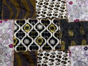 Embroidered Patchwork Multi Print Fabric  Multicoloured
