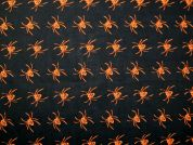 Spiders Print Polycotton Dress Fabric