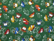 Cars Print Polycotton Dress Fabric