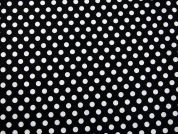 Spotty Print Cotton Dress Fabric  White on Black