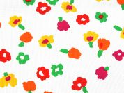 Floral Print Polyester & Cotton Dress Fabric  Multicoloured
