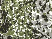 Camouflage Print Polyester Crepe Dress Fabric  Green