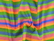 Patterned Stripes Print Cotton Dress Fabric  Multicoloured