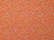 Texture Print Silky Satin Dress Fabric  Orange