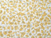 Floral Burnout Print Polycotton Voile Dress Fabric  Yellow