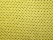 Raindrops Print Cotton Poplin Dress Fabric  Yellow