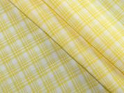 Plaid Check Woven Rayon Dress Fabric  Yellow