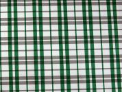 Woven Plaid Check Design Taffeta Fabric  Emerald