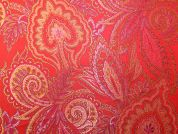 Oriental Weave Brocade Dress Fabric  Pink