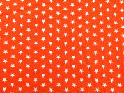 Stars Print Cotton Dress Fabric  Orange