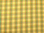 Plaid Check Stretch Cotton Drill Dress Fabric  Yellow