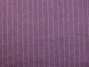 Pinstripe Stretch Denim Dress Fabric  Plum