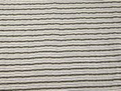 Stripe Print Seersucker Cotton Dress Fabric  Beige & Brown