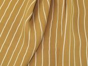 Stripe Print Polyester Crepe Dress Fabric  Beige