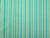 Stripe Cotton Twill Dress Fabric  Green