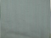 Stripe Polycotton Twill Dress Fabric  Green & White