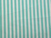 Stripe Print Polyester & Cotton Dress Fabric  Mint Green