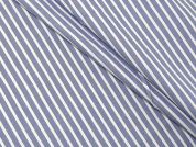 Woven Stripe Polycotton Shirting Dress Fabric  Light Blue