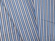 Woven Stripe Polycotton Shirting Dress Fabric  Blue