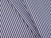 Woven Stripe Polycotton Shirting Dress Fabric  Blue & Red