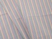 Woven Stripe Polycotton Shirting Dress Fabric  Multicoloured