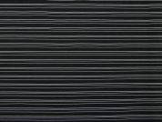 Textured Pinstripe Stretch Bengaline Suiting Dress Fabric  Black & White