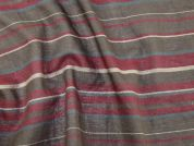 Stripe Cotton & Wool Blend Voile Dress Fabric  Multicoloured